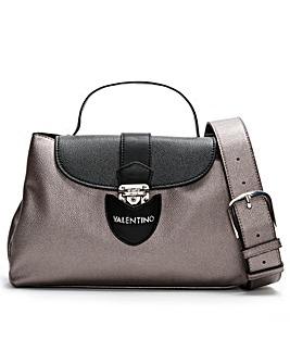 Mario Valentino Drum Pebbled Satchel Bag