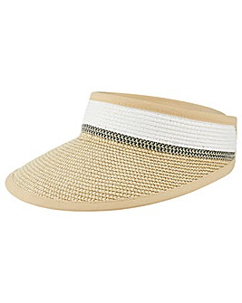 Monsoon Lily Lurex Visor Straw Hat