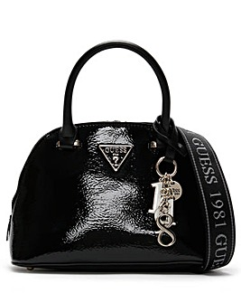 Guess Maddy Dome Patent Satchel Bag