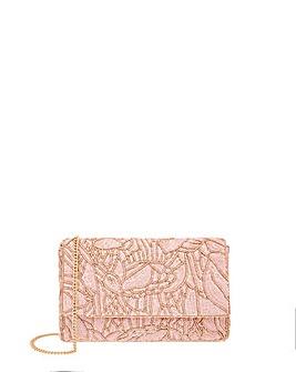 Accessorize Sequin Floral Clutch