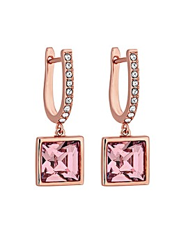 Jon Richard Rose Gold Square Earrings