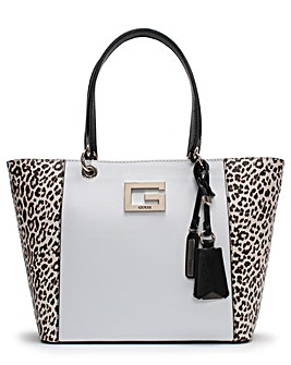 Guess Kamryn II Leopard Panel Tote Bag