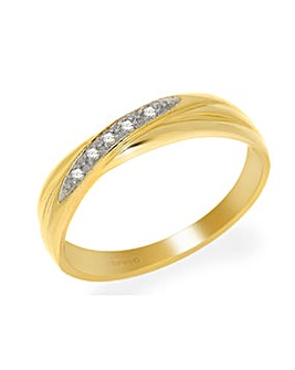 9ct Y/G Diamond Ring