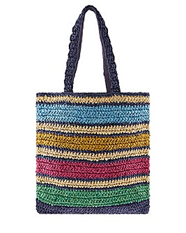 Monsoon Roz Paper Stripe Tote Bag