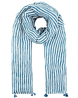 Monsoon Sanya Stripe Linen Scarf