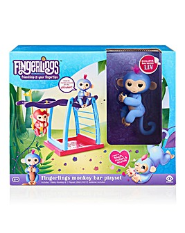 Fingerlings Monkey Bar Playset & Monkey