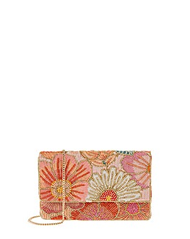 Accessorize Kimmy Floral Beaded Clutch