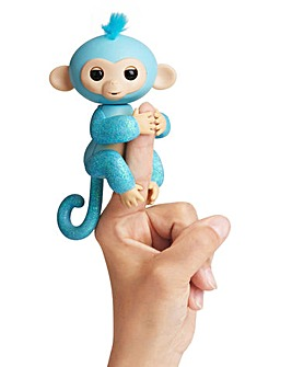 Fingerlings Glitter Monkey Light Blue