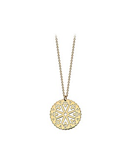 9Ct Yellow Gold Cut Out Pendant on Chain