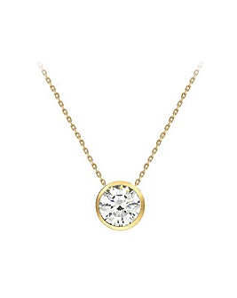9Ct Gold Slider Pendant on 18 inch Chain