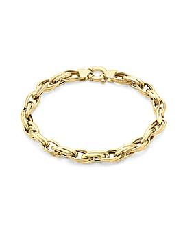 9Ct Gold Chunky Ladies Bracelet