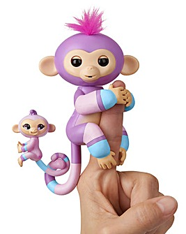 Big Monkey & Matching Baby Violet