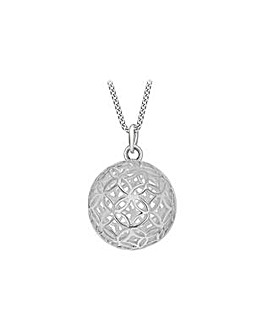 Sterling Silver Ball Pendant on Chain
