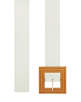 Accessorize Bamboo Square Buckle Belt