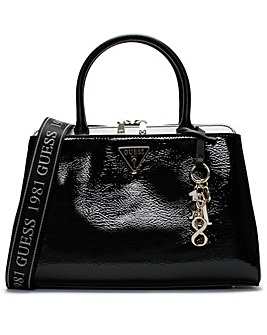 Guess Maddy Girlfriend Patent Satchel Bag
