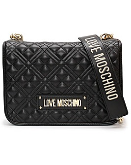 Love Moschino Quilted Stud Shoulder Bag