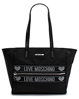 Love Moschino Logo Nylon Shopper Bag