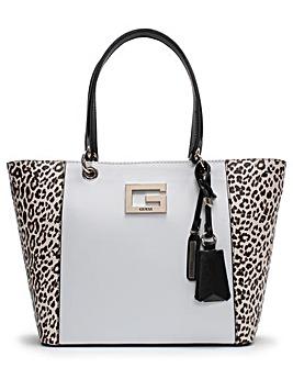 Guess Kamryn II Leopard Panel Tote Bag