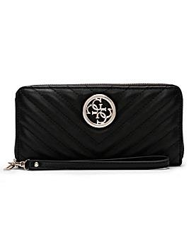 Guess Blakely Zip Around Wristlet Wallet