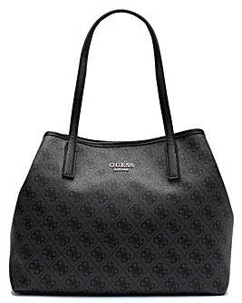 Guess Vikky Repeat Logo Slouchy Tote Bag