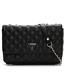 Guess Cessily Convertible Flap Quilted Shoulder Bag
