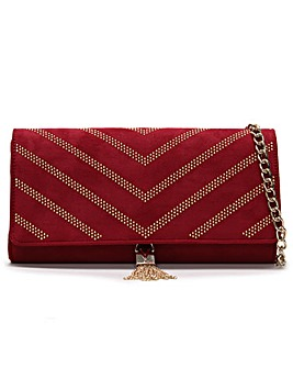 Valentino By Mario Valentino Dime Studded Clutch Bag