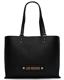 Love Moschino Studded Logo Tote Bag