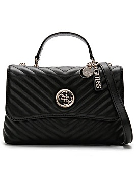Guess Blakely Flap Quilted Top Handle Shoulder Bag