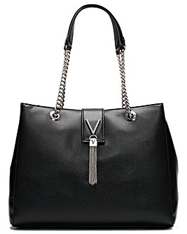 Valentino By Mario Valentino Divina Pebbled Chain Tote Bag