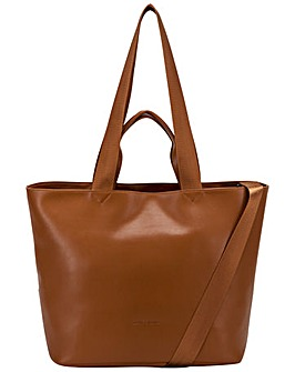 Smith & Canova Smooth Leather E/w Tote / Shoulder Bag