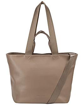 Smith & Canova Smooth Leather E/w Tote / Shoulder Bag