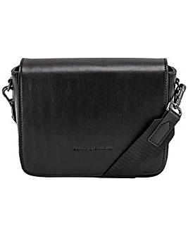 Smith & Canova Smooth Leather Flap Over Cross Body Bag