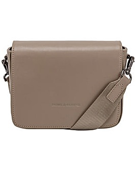 Smith & Canova Smooth Leather Flap Over Cross Body Bag