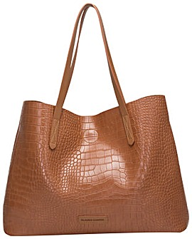 Claudia Canova Ophelia Croc Print Twin Strap Tote Bag