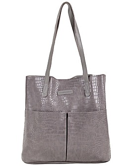 Claudia Canova Lillis Double Pocket Croc