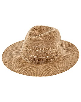 Accessorize Chevron Packable Fedora