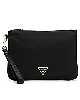 Guess Did I Say 90s Top Zip Wristlet Pouch