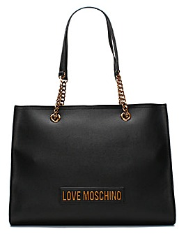 Love Moschino Large Logo Chain Shopper Bag