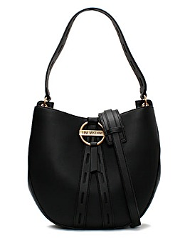 Love Moschino Circle Detail Bucket Bag