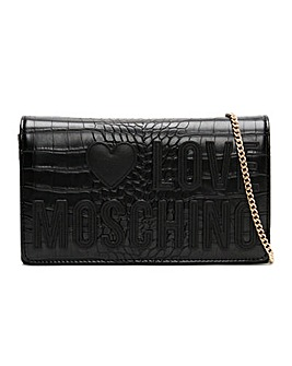 Love Moschino Croc Logo Cross-Body Bag