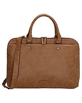 "Enrico Benetti Metz Large Faux Leather 13"" Laptop Workbag"