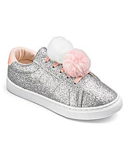Glitter Pom Pom Pumps
