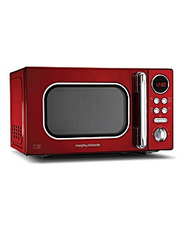 Morphy Richards 800W Red Microwave