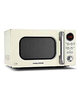 Morphy Richards 800W Cream Microwave