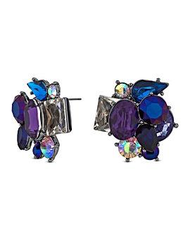 Mood Blue Layered Stud Earring