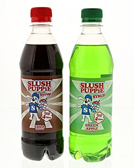 Slush Puppie Green Apple and Cola Slushie Syrups Set