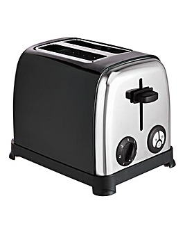 JDW 2 Slice Black Toaster