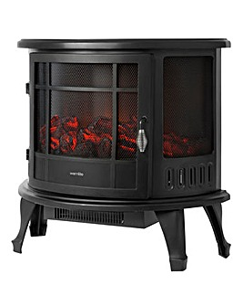 Warmlite 1800W Log Effect Panoramic Stove Fire