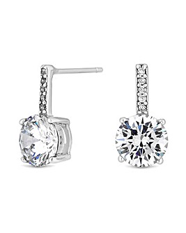 Simply Silver Bar Drop Earring