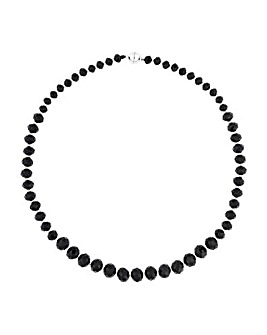 Jon Richard Jet Graduated Bead Necklace